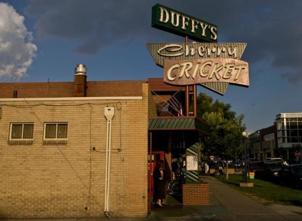 The Cherry Cricket, located in Cherry Creek, is known for their beer selection and tasty food - especially the hamburgers.