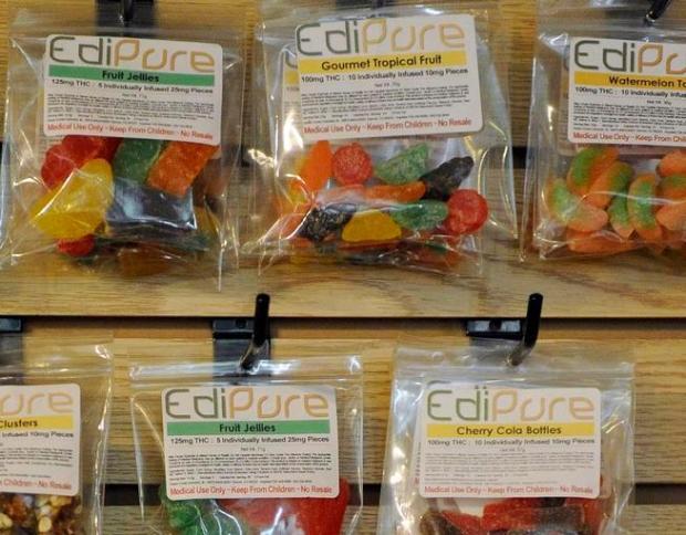 Marijuana-infused edibles at Ganja Gourmet in Denver.