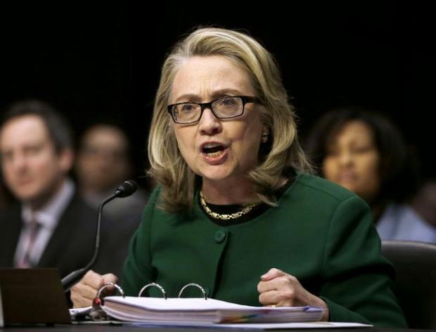 In this Jan. 23, 2013, file photo, then-Secretary of State Hillary Rodham Clinton testifies on Capitol Hill in Washington, D.C., on the deadly September attack on the U.S. diplomatic mission in Benghazi, Libya, that killed Ambassador Chris Stevens and three other Americans.