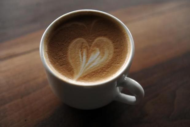 A latte at Copper Door Coffee ...