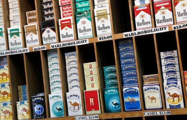 Cigarette packs are displayed for sale at a convenience store in New York City. (Associated Press file)