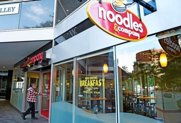 DENVER, CO - JUNE 11: Noodles and Company opened up their first international restaurant in Canada this week and is offering breakfast, June 11, 2015. The company is using the Denver 16th Street Mall restaurant for concept testing. (Photo by RJ Sangosti/The Denver Post)