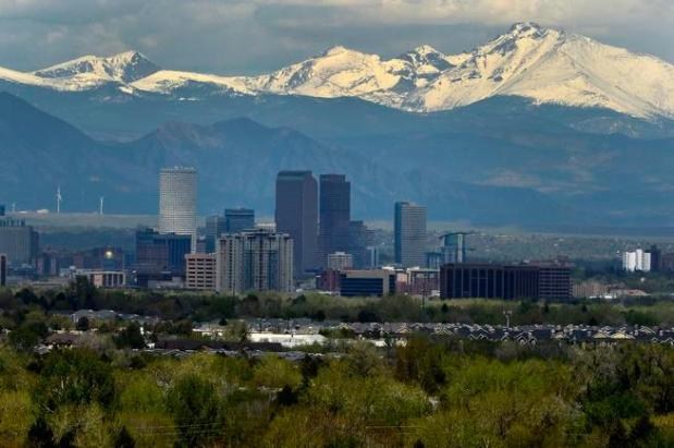 Denver Skyline as seen from the ...