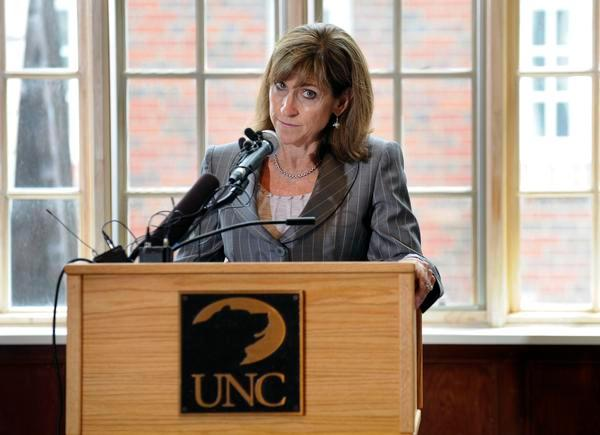 University of Northern Colorado President Kay Norton speaks during a July 2009 press conference.