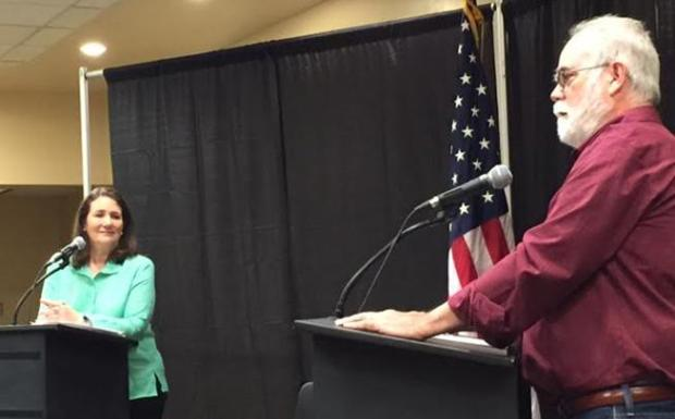U.S. Rep. Diana DeGette of Denver debated her 1st Congressional District primary challenger Chuck Norris on May 21, 2016, at the Colorado Young Democrats' event on the Auraria Campus. (Joey Bunch, The Denver Post)