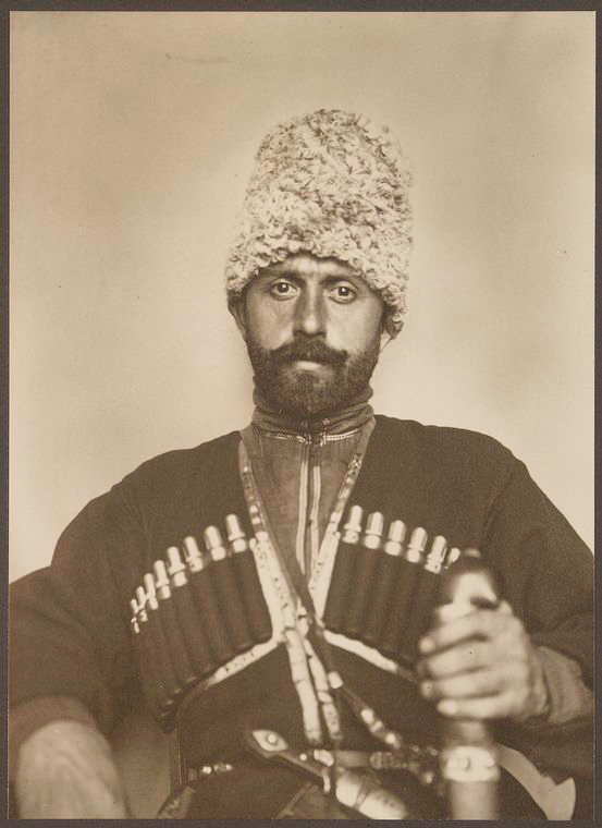 Cossack man from the steppes of Russia. Photo courtesy of New York Public Library Digital Collections.