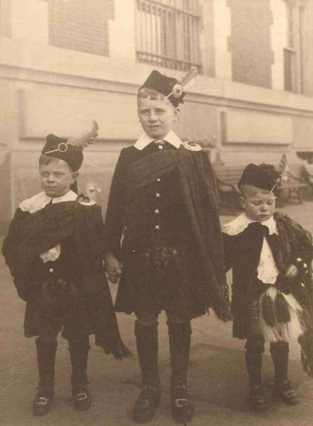 Scottish boys. Photo courtesy of New York Public Library Digital Collections.