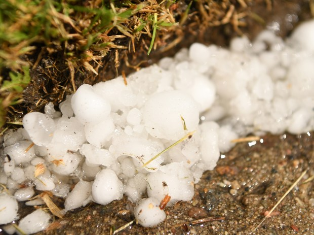 ARVADA, CO - MAY 24: A fast moving hail storm moved through west Arvada, May 24, 2016. The thunderstorm moved northeast after dropping hail in areas. (Photo by RJ Sangosti/The Denver Post)