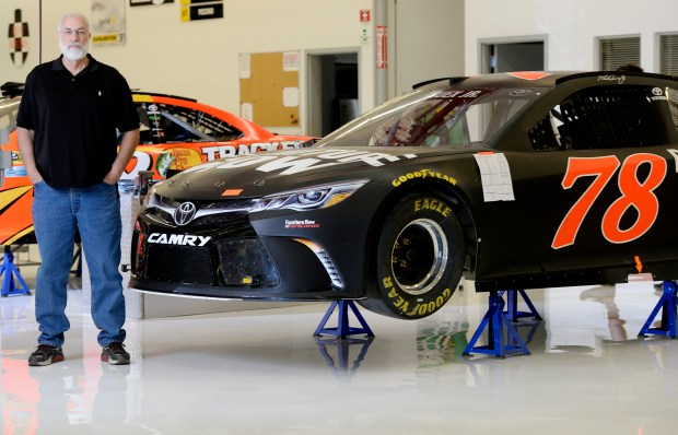 DENVER, CO - JUNE 1: Furniture Row Racing owner Barney Visser was at it's Denver garage on Wednesday, June 1, 2016 where they have cars for short track, intermediate, and super speedway tracks. The team is coming off a win at the Coca Cola 600 in Charlotte. The car at right is for intermediate tracks and the car in the background is for super speedways. (Photo by Cyrus McCrimmon/The Denver Post via Getty Images)