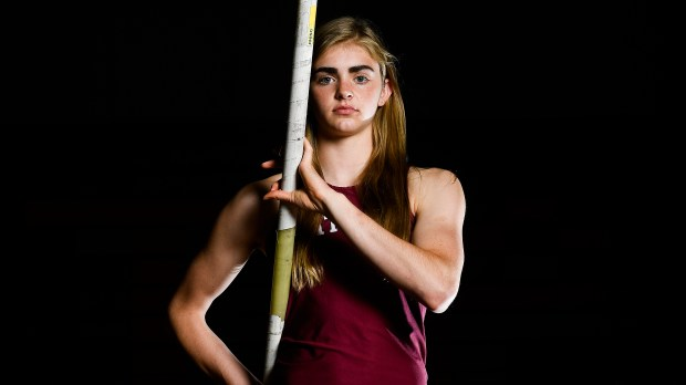 Andrea Willis, pole vaulter for The Classical Academy, poses for a portrait.
