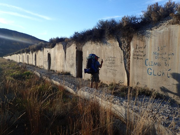 These concrete bunkers are nearly all that is left of Camp Hale, where the 10th Mountain Division trained.