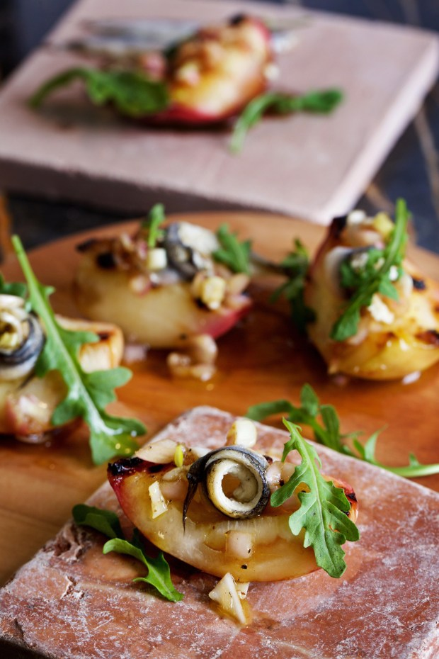 Nectarines with Anchovies.