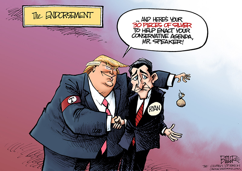 Image of: Clipart Redbubble Cartoons Of The Day Paul Ryan Endorses Donald Trump