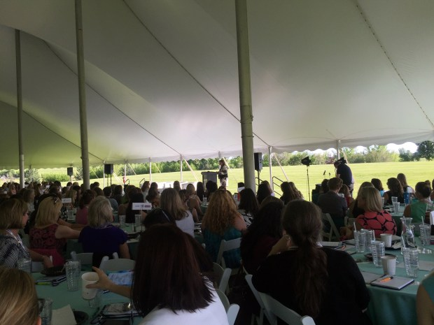 The annual Women in Technology Conference hosted by the Colorado Technology Association limits the number of participants to 600, to keep the conversations more intimate. At the June 10, 2016 event, held at the Denver Botanic Gardens in Chatfield, Cathy Avgiris, Comcast's CFO, was the keynote.
