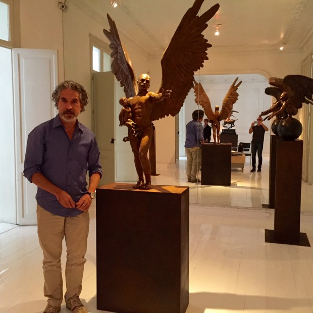 Jorge Marin stands in his studio in the Roma Norte neighborhood of Mexico City.