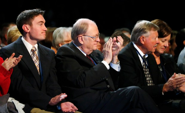 Former Republican U.S. Sen. Bill Armstrong, who passed away last week, attends a campaign speech by GOP presidential candidate Ben Carson on Oct. 29, 2015.