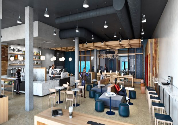 Capital One plans to open a coffee shop-bank hybrid, called Capital One Cafe, inside The Triangle Building near Denver Union Station this fall.
