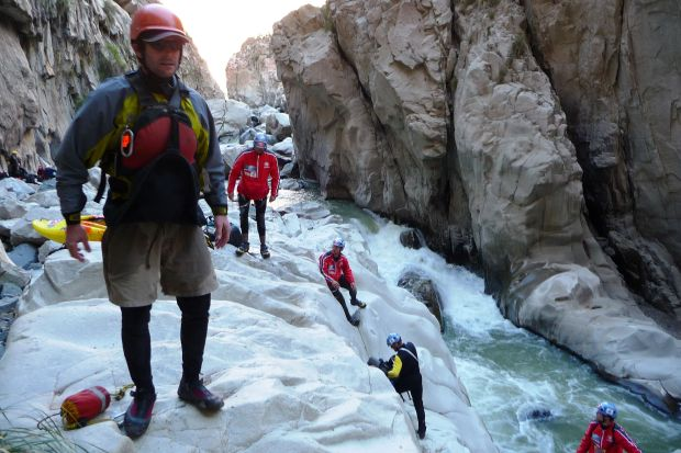 Steamboat Springs paddler and author Eugene Buchanan joined the 2008 Polish Canoandes expedition into the upper section of Peru's Colca Canyon, the deepest gorge in the world. Photo Special to The Denver Post by Grzegorz Gaj Grzesiek