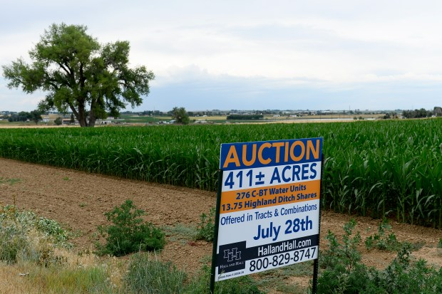 longmont, co - july 5: 411 acres in longmont are for sale by auction on july 5, 2016. (photo by michael reaves/the denver post)