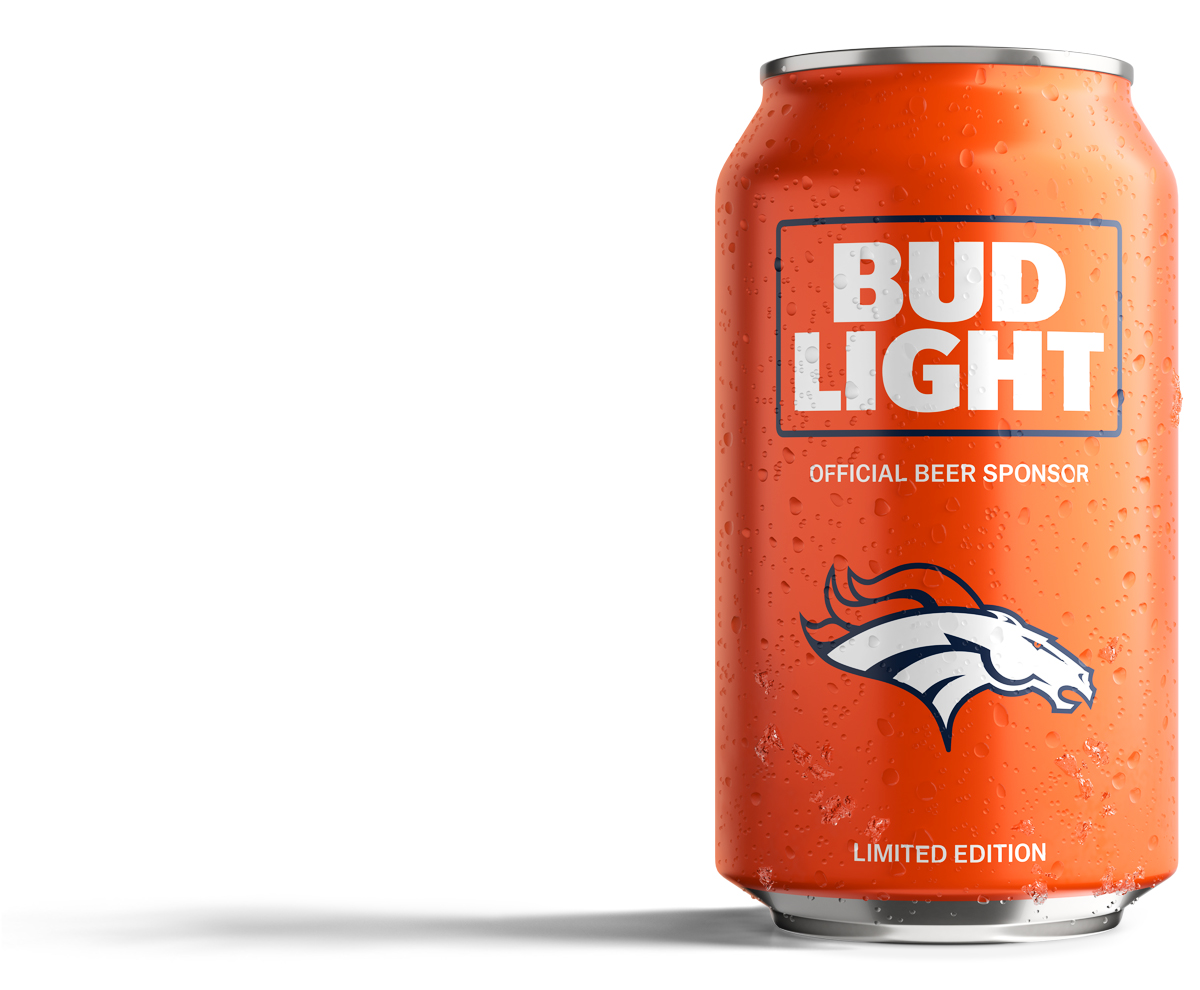 Broncos Orange Bud Light