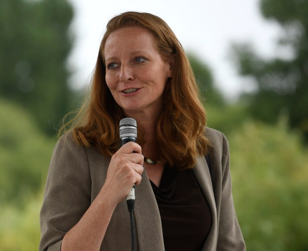 Colorado State Senator Morgan Carroll at the 4th annual Taste of Ethiopia festival at Parkfield Lake Park August 06, 2016. Carroll is challenging Mike Coffman for U.S. Congress.