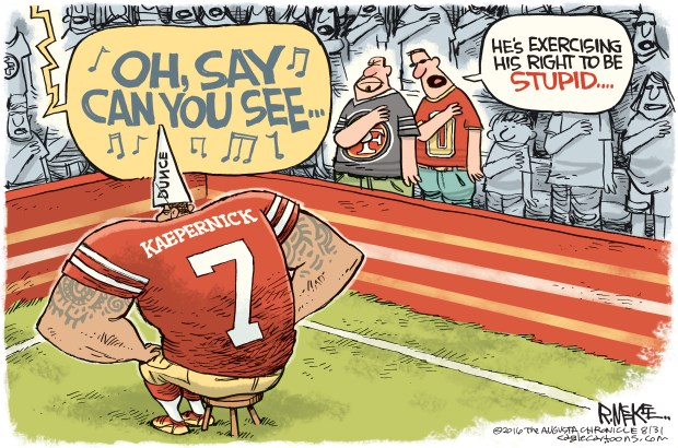 Cartoons Of The Day Colin Kaepernick S National Anthem