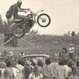 photo of a motorcycle jump