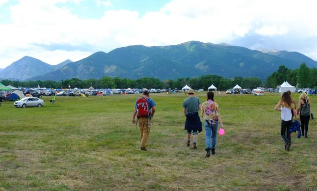 Fans walk around the Vertex Festival in Buena Vista.