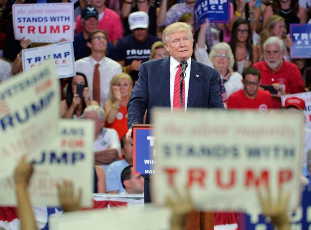 Republican presidential nominee Donald Trump, speaking at a rally in Wilmington, N.C., on Tuesday, appeared to encourage gun owners to take action if Hillary Clinton is elected president and appoints judges who oppose gun rights.