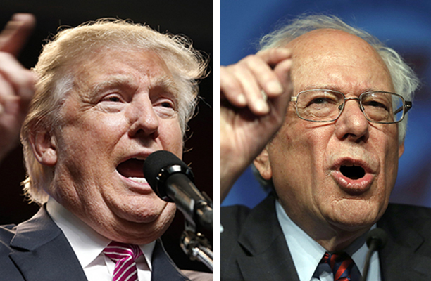 "Socialist Bernie Sanders and capitalist Donald Trump have both embraced the ""antiestablishmentarianism"" narrative during the current election season."