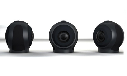 """Allie cameras, a """"720-degree"""" full circle camera that captures the entire image."""