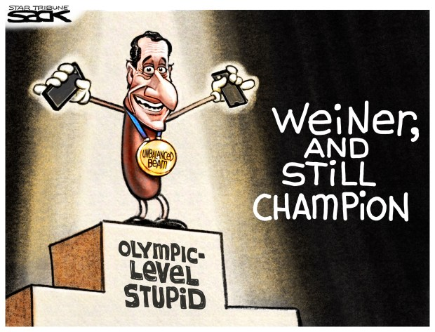 Cartoons of the day: Anthony Weiner sexting scandal