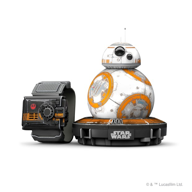 Boulder's Sphero launches new Force Band to control the Star Wars BB-8 droid toy robot with one's own force.
