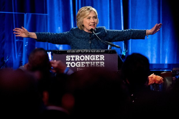 Hillary Clinton speaks at a LBGT For Hillary Gala