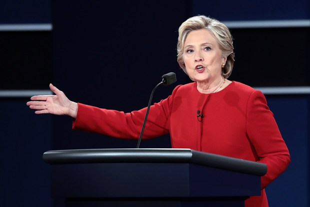 Hillary Clinton's record is so riddled with about-faces, deceptions and lies that a few days of concentration would have allowed Donald Trump to parry her thrusts in a trice Monday night.