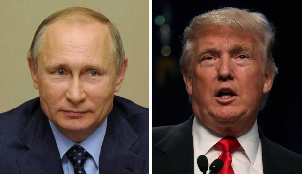 Russian Preisdent Vladimir Putin and U.S. Republican presidential nominee Donald Trump.
