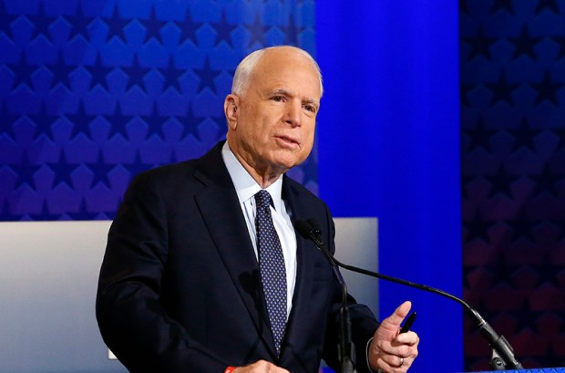 "Sen. John McCain said in a radio interview this week, ""I promise you that we will be united against any Supreme Court nominee that Hillary Clinton, if she were president, would put up."""