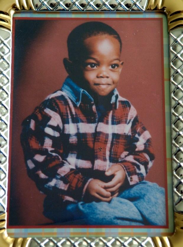 A family photo of Casson Xavier Evans taken on his third birthday.