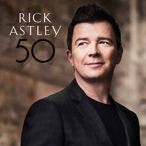 "This cover image released by BMG shows, ""50,"" the latest release by Rick Astley."
