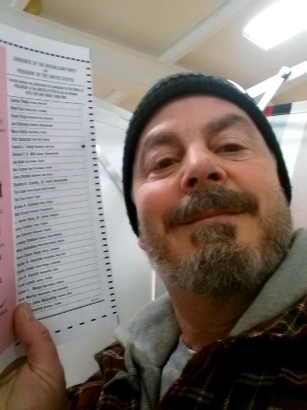 Ballot selfie from New Hampshire