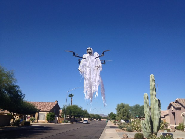 Hovering ghosts now made possible with drones. This one was shared with The Denver Post by DJ Vegh from Arizona.