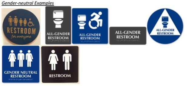 Gender-neutral signs