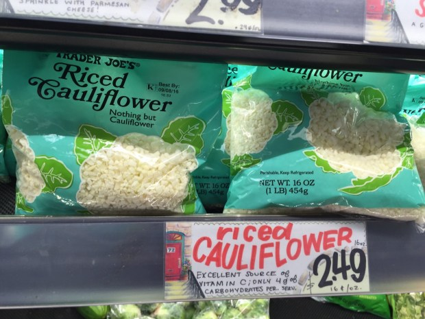 Trader Joe's began selling frozen riced cauliflower last year and a fresh version this year.