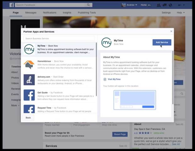 HomeAdvisor gets a shout-out from Facebook as the new call-to-action button is rolled out on October 19, 2016.