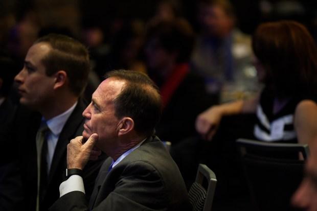 U.S. Representative Ed Perlmutter listens during ...