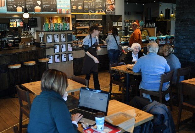 Einstein Bros. Bagels and Caribou Coffee recently opened a combined store in Lakewood, November 23, 2016.