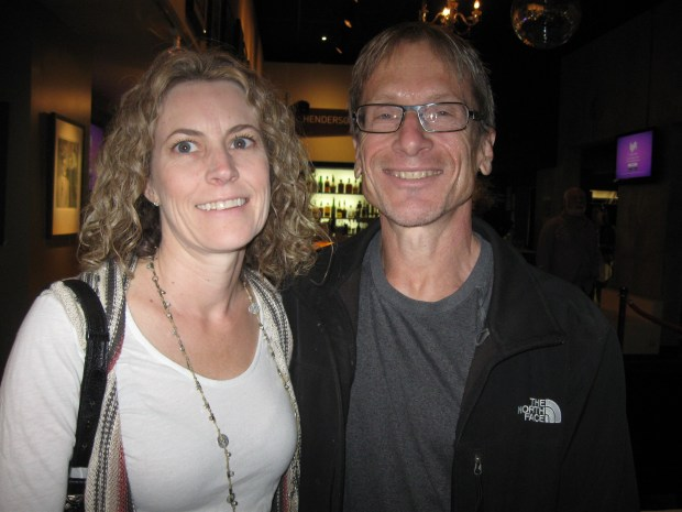 Dr. Scott Falci and his wife, Kelly. Dr. Falci is chief neurosurgeon at Craig Hospital and had a key role in developing the adaptive race car.