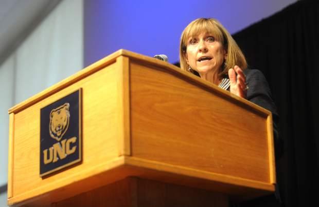 Kay Norton, president of the University ...