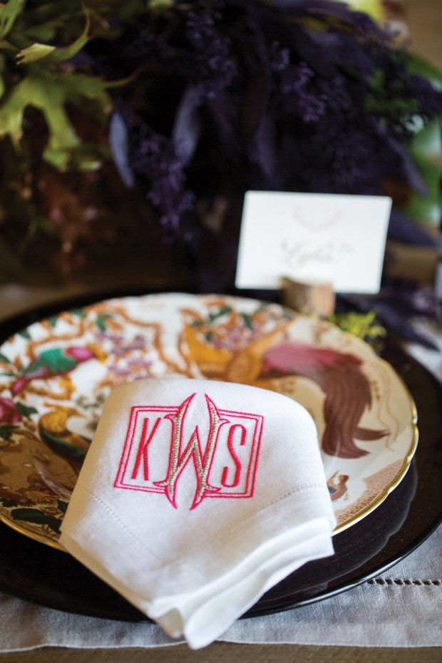 """Whether on fine linen or silver, a distinctive monogram adds a touch of personality, class and elegance. The tradition is as strong as ever, says Kimberly Schlegal Whitman, author """"Monograms for the Home."""""""