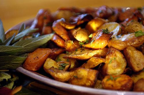 Roasted Colorado Organic Vegetables. Recipe from Big Bang Catering.